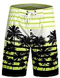 APTRO® Herren Slim Fit Freizeit Shorts Casual Mode Urlaub Strand-Shorts Sommer Jun 1525 DE 3XL Gelb