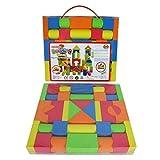 Vi.yo Mischfarben EVA Bausteine Set Bau Ziegel Puzzle Gebäude Spielzeug Weihnachtsgeschenke für Kinder Kleinkind, 41 Teile/Set