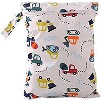 domybest bebé impermeable Zipper Bolsa para bebé reutilizable lavable Cloth Diaper Nappy bolso cambiador