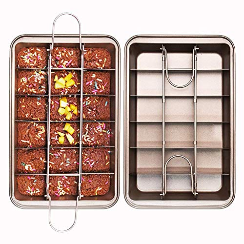 ZqiroLt Backform mit Antihaft-Brownie-Pfanne mit Trennwand Brot Kuchen Ofen Backform Backform