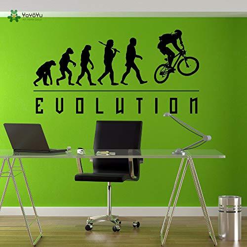 Wandtattoo Vinyl Kunst Wohnkultur Wandaufkleber Evolution BMX Biker Fahrrad Abnehmbare Schablonen Für Wände 42X82 cm