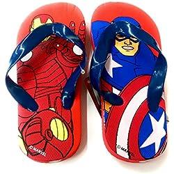 Takestop® - Chanclas de los Vengadores, Marvel, Iron Man, Capitán América, superhéroes - Número 34, sandalias de playa para niño - Fantasía