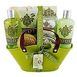 Gloss! Body Luxurious - Estuche de baño regalo, té verde, color verde