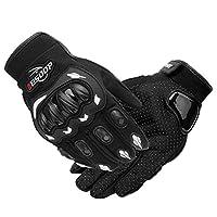 KKmoon Men's Motorcycle Gloves Touching Screen Full Finger Motorbike Racing Motor Cycling Motocross Mountain Breathable M-XL