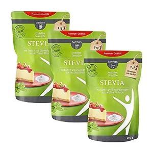 3 x borchers bff Stevia Kristall | Mit Erythrit | Kalorienfrei | Rebaudiosid...