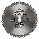 Wolfcraft 6735000 1 Lame de Scie Circulaire Ø 190 Mm, Ct, Alésage 16 Mm, 30 Dents, Surface Poncée, Denture Sablée Et Alternée