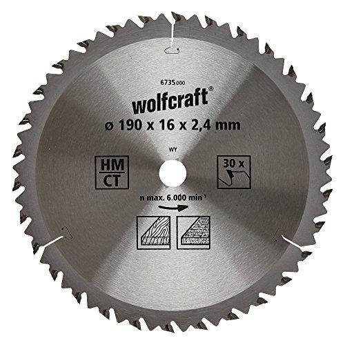 wolfcraft-6735000-disco-de-sierra-circular-hm-30-dient-serie-marron-oe-190-x-16-x-24-mm