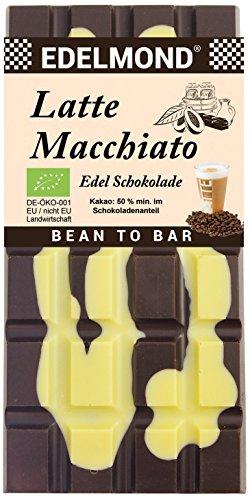 """Preisvergleich Produktbild Edelmond® Bio""""Latte Macchiato"""" Schokolade Kakaobohnen und Kaffeebohnen gewalzt Ohne künstliche Aromen Glutenfrei Fair-Trade"""