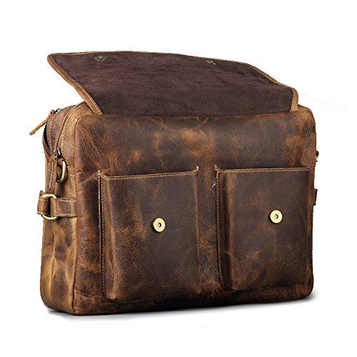 2d9c17c7f1 Get Kattee Men s Genuine Leather Briefcase Handbag