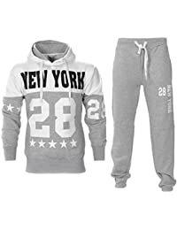 Paramount Raiken New York Print Pull Over Hooded Fleece Tracksuit