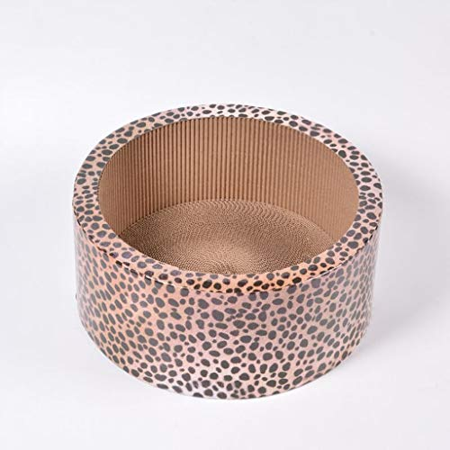 SMBYLL Leopard-Wellpapierkatze, die Platte kratzt, kratzt Vier Jahreszeitenuniversal-Katzenbett, das Katzenspielzeug-Katzenstreu, quadratisches rundes kratzt Haustierbett (größe : B)