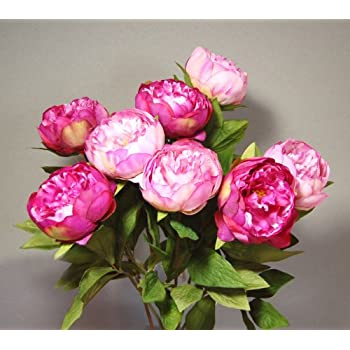 Eight stems of artificial silk pink peonies amazon kitchen eight stems of artificial silk pink peonies mightylinksfo Gallery