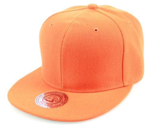 Sense42 Snapback Uni Color Orange einfarbig Design Flat Cap Bill Unisex