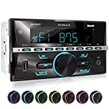 XOMAX Autoradio with Bluetooth, RDS, USB, 2 DIN
