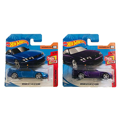 Hot Wheels Nissan Skyline GT-R R33 Then and Now Pack 2