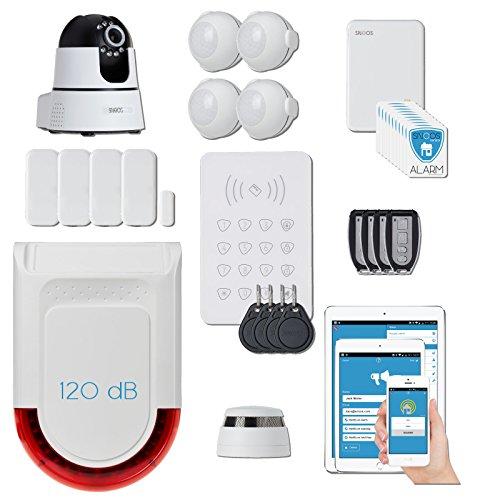 snoos (TM) House Smart Alarm Pro–Professionelle Europäische Qualität IP Smart Alarm für privathäusern angebracht, Büros und kleine Geschäfte. Inklusive gratis Central Monitoring.