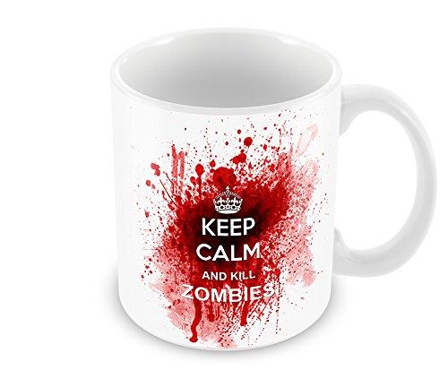 Keep Calm and Kill Zombies–Keramik Tasse -