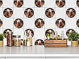 GRAZDesign 770430_57x57_FT Fliesensticker für Küche   Fliesenaufkleber-Set Trinkschokolade mit Sahne   Wandfliesen einfach mit selbstklebender Fliesenfolie verschönern   Dekofliesen-Set rund (57x57cm)