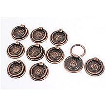 Armario Cajón De Armario 36mm Dia Vintage Ring Tirar Pomo Manilla 10 Piezas