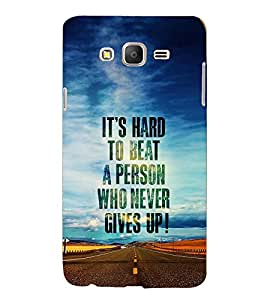 Printvisa Premium Back Cover Life Qoute With A Road Background Design For Samsung Galaxy On7::Samsung Galaxy On7 G6000FY