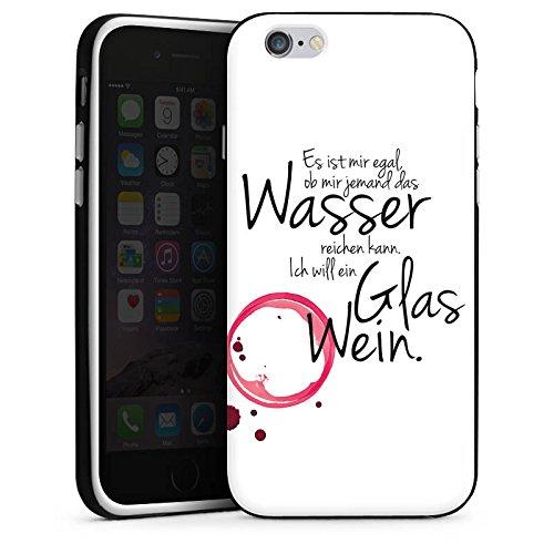 Apple iPhone 7 Plus Hülle Case Handyhülle Wein Spruch Lustig Silikon Case schwarz / weiß