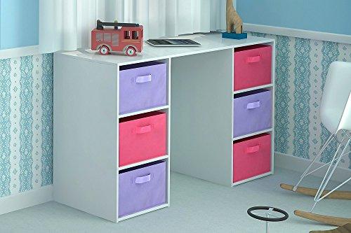 home-source-kids-desk-toy-storage-6-canvas-drawers-for-childrens-bedroom-playroom