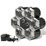 PartyFunLights 6 LED Linkable Lights, schwarz, 86462
