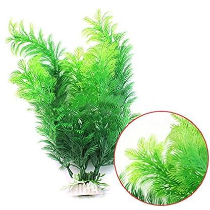 bismarckbeer Green Artificial Aquatic Plants Fish Tank Aquarium Water Plants Grass Landscape Decoration 2