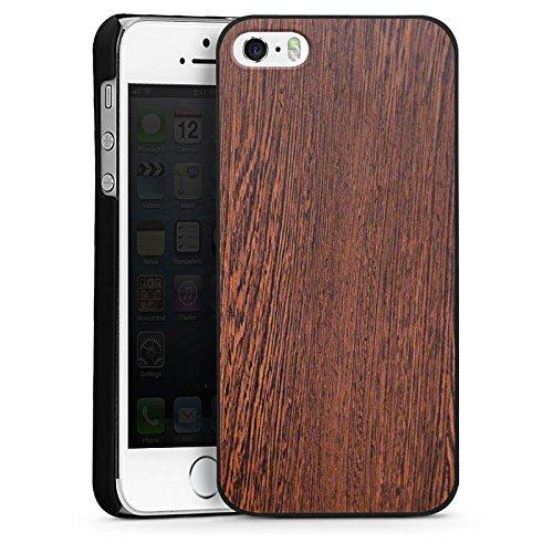 Apple iPhone 4 Housse Étui Silicone Coque Protection Noisetier Look bois Sol en bois CasDur noir