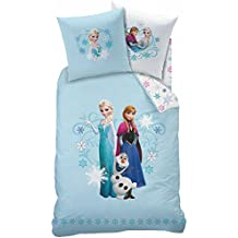 Disney Frozen–Juego de cama, franela, Azul Claro, 135x 200cm, 2unidades de medida
