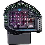 AULA Excalibur Master Tastiera da gioco a una mano Supporto rimovibile RGB Retroilluminazione Tastiera ergonomica per giocatore