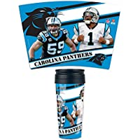 NFL Football CAROLINA PANTHERS Multiple Players Travel Mug Thermotasse Kaffeetasse Tasse