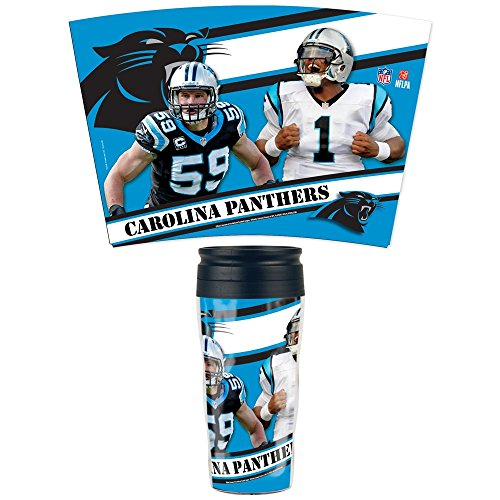 NFL Football CAROLINA PANTHERS Multiple Players Travel Mug Thermotasse Kaffeetasse Tasse - Carolina Panthers Travel Mug