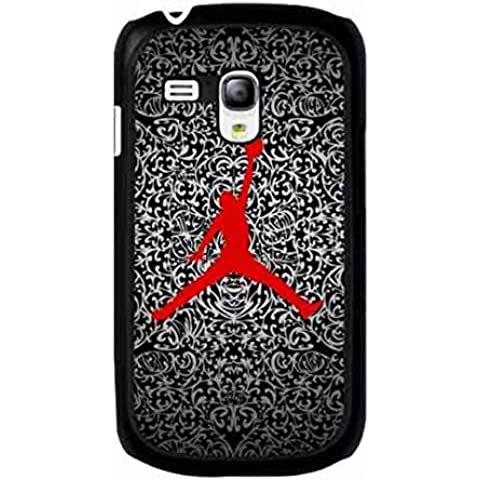 Funda para Samsung Galaxy S3Mini, Rojo Jordan móvil para Samsung Galaxy S3Mini, Jordan Michael Jordan móvil Samsung Galaxy S3Mini móvil