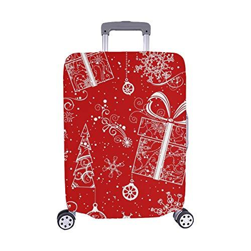Seamless Weihnachten Muster Vintage kunstvollen Weihnachten Muster Spandex Trolley Fall reisegepäck auf 28,5 x 20,5 cm beschützer Koffer