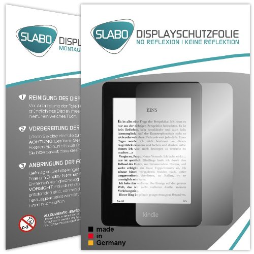 "2 x Slabo Displayschutzfolie Amazon Kindle Paperwhite Displayschutz Schutzfolie ""No Reflexion