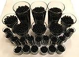 4000 Stück Wasser Kugeln Gel Bälle CHRISTAL ERDE CHRYSTAL Perlen Vasen Dekoration 11-15mm Durchmesser – Pflanzen Kerzen Blumen Wasserspender KRISTALL HINGUCKER (Schwarz)