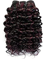 chear Disco Jerry trame Extension de cheveux humains avec de mélange tissage, Nombre P1B/99J, Off Noir/Vin foncé...