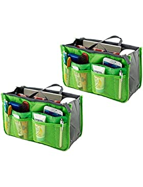 2 Pack Magik Reise Einsatz Handtasche Große Innenauskleidung Organisator Ordentlich Taschen