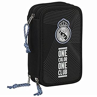 SAFTA Plumier Real Madrid Black triple 41cm
