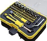 CFtrum 70-teiliges Mini Haushalts-Werkzeugkoffer Werkzeug-Set Handwerkzeug-Set Präzisions-Kit Schraubendreher Kit mit der Plastik-Aufbewahrungsbox - ideal für den Hausgebrauch und die Autoreparatur