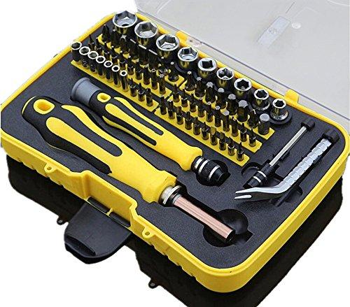 Joyeee 70-teiliges Mini Haushalts-Werkzeugkoffer Werkzeug-Set Handwerkzeug-Set Präzisions-Kit Schraubendreher Kit mit der Plastik-Aufbewahrungsbox - ideal für den Hausgebrauch und die Autoreparatur