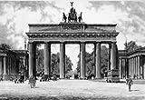 Einfarbige original Radierung Berlin, Brandenburger Tor von Bruck als loses Blatt, Graphik, kein Kunstdruck, kein Leinwandbild