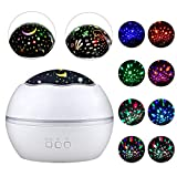 Opard Baby Projector Night Light for Kids Star Projector 8 Mode 360 Degree