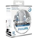 Philips White Vision H7 55W/12V Halogen Bulbs, set of 2 pieces