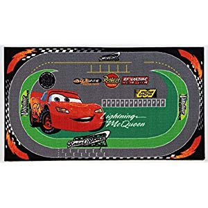 Viva Disney A.L. Cars Racing Rug, Synthetikfaser, Multicolored, 170 x 100 x 0.7 cm