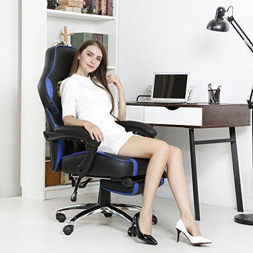 Langria sedia da ufficio ecopelle schienale alto ecopelle for Sedia da ufficio amazon