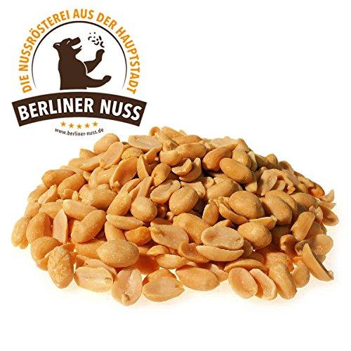 Erdnüsse fettfrei geröstet mit Meersalz (1000g)