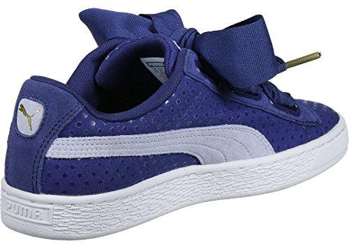 Puma Basket Heart Denim W Scarpa Blu