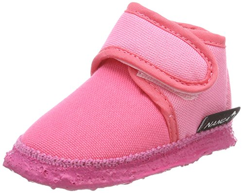 Nanga Baby Mädchen Luna Krabbelschuhe, Pink (Pink), 20 EU (Filz Babyschuhe)